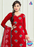 SC 12959 Red and SeaGreen Embroidered Lawn Cotton Party Wear Straight Suit