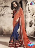 SC 13790 Blue Exclusive Ethnic Wedding Wear Georgette Saree