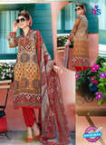SC 12644 Multicolor and Red Printed Cambric Pakistani Suit