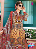 SC 12644 Multicolor and Red Printed Cambric Pakistani Suit Online