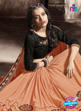 SC 13789 Peach Exclusive Ethnic Wedding Wear Georgette Saree