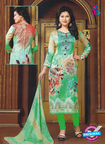 Maple 216 B Green Glace Cotton Casual Suit