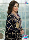 SC 12283 Black and Golden Embroidered Faux Georgette Party Wear Designer Suit