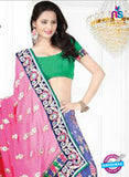 NS12259 Pink and Blue Designer Saree