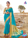 SC 14146  Sky Blue Designer Khadi Silk Formal Saree