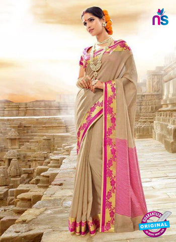 SC 14148  Beige Designer Khadi Silk Formal Saree