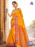 SC 14149 Yellow Designer Khadi Silk Formal Saree