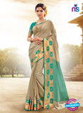 SC 14150 Beige Designer Khadi Silk Formal Saree
