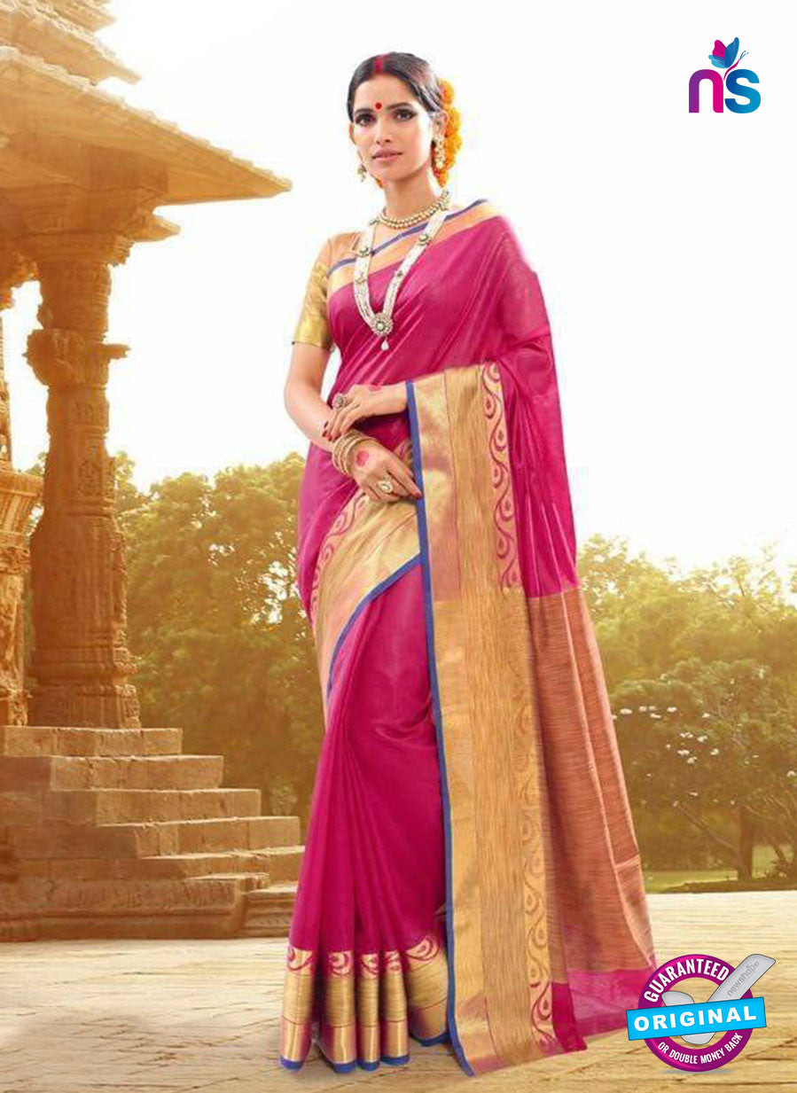 SC 14151 Pink Designer Khadi Silk Formal Saree