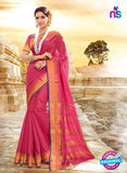 SC 14153 Pink Designer Khadi Silk Formal Saree