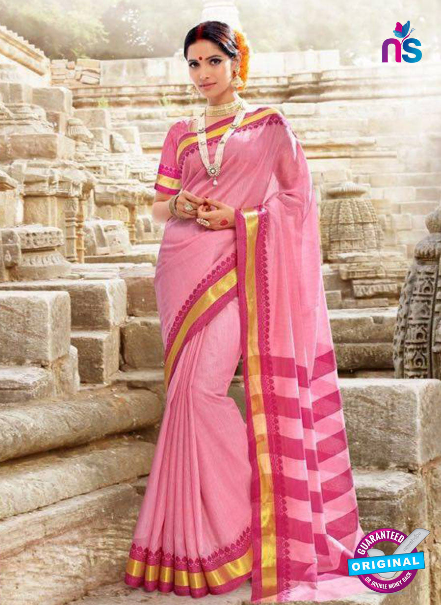 SC 14156 Pink Designer Khadi Silk Formal Saree