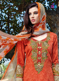 Kalakirti2201 Orange Color Glace Cotton Designer Suit