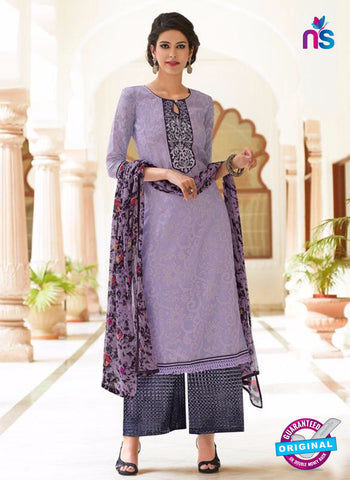 2201 Purple and Black Kota Doria Party Wear Suit