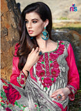 Kalakirti2202 Pink & Grey Color Glace Cotton Designer Suit
