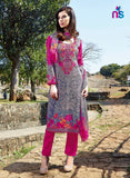Kalakirti2203 Pink & Grey Color Glace Cotton Designer Suit