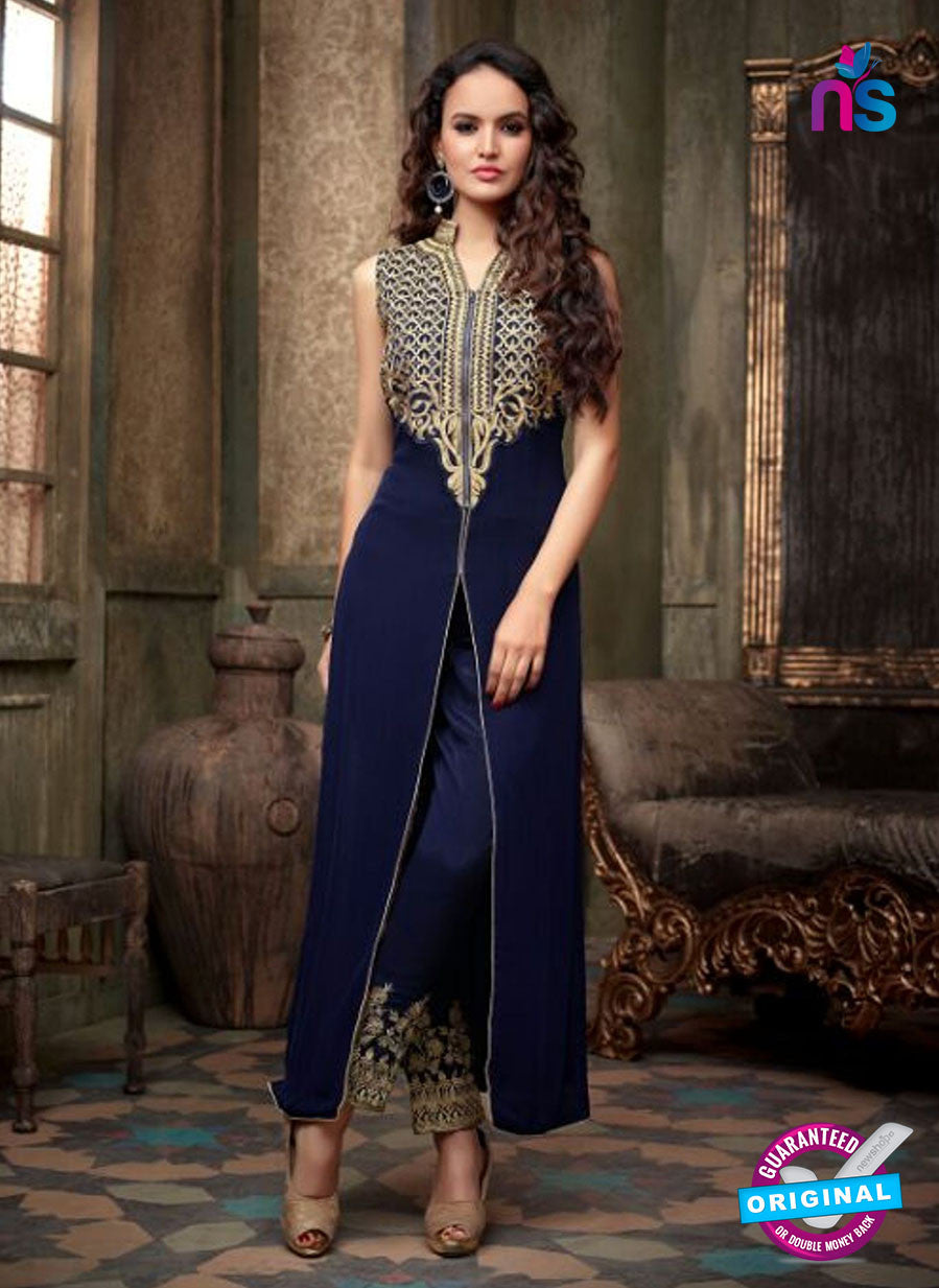 Maskeen 2204 Blue Georgette Party Wear Suit