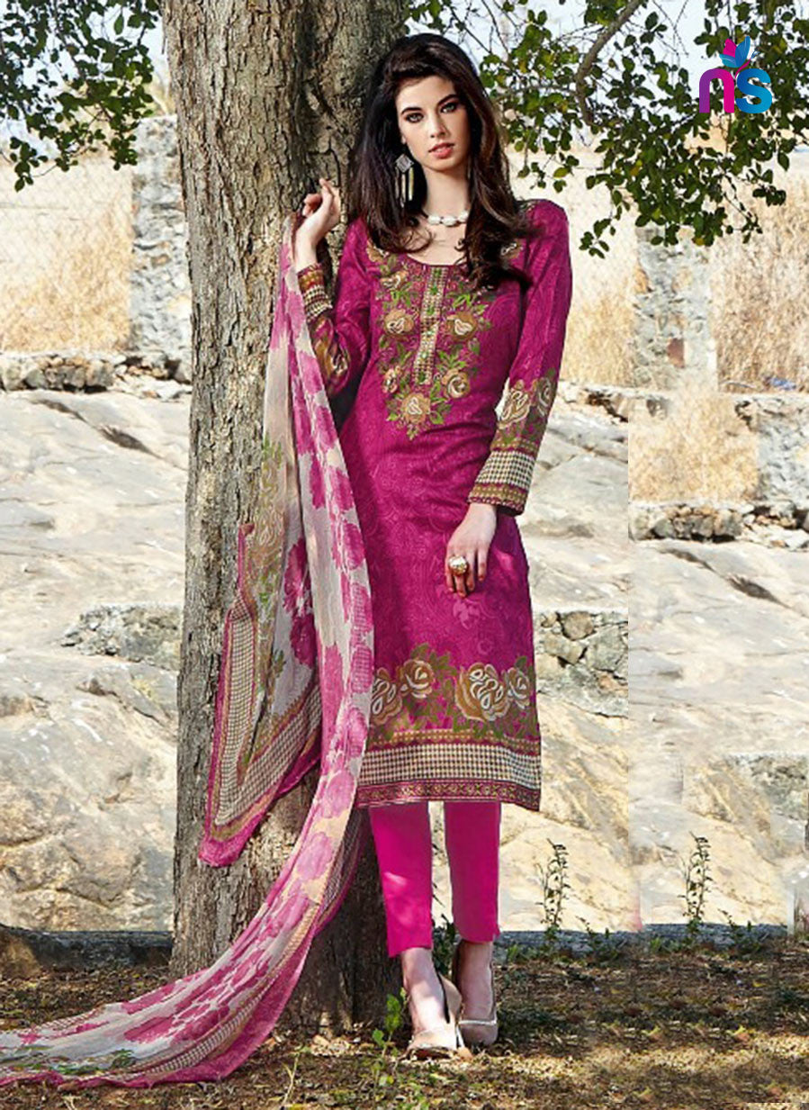 Kalakirti2207 Pink Color Glace Cotton Designer Suit