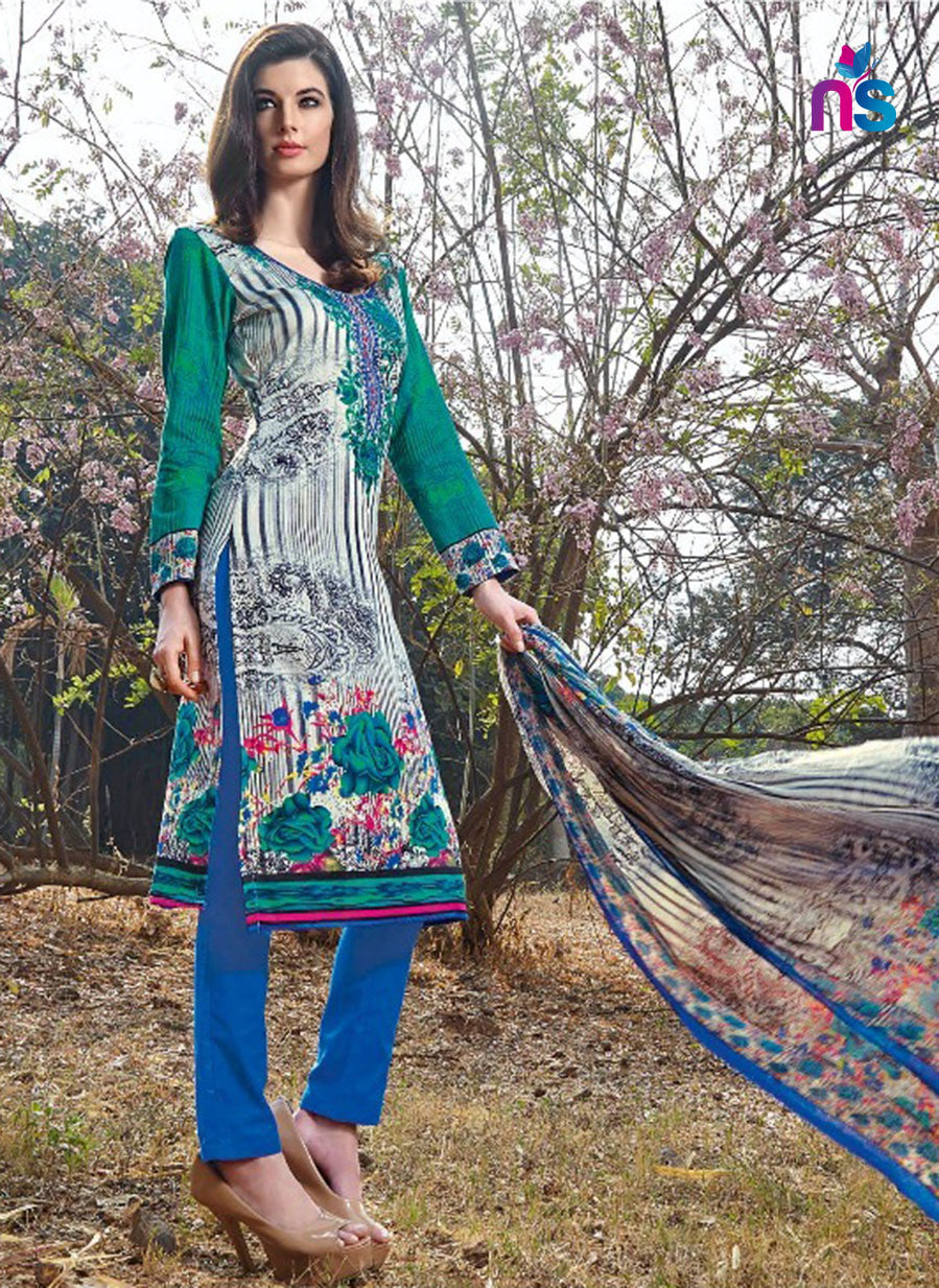 Kalakirti2208 Blue Color Glace Cotton Designer Suit