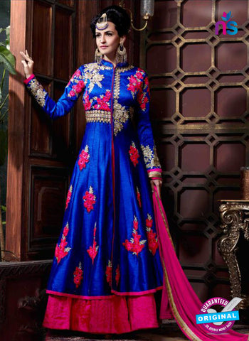 AZ 3607 Blue Georgette Anarkali Suit