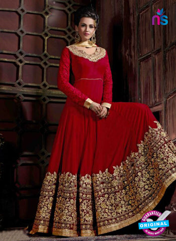 AZ 3609 Red Georgette Anarkali Suit