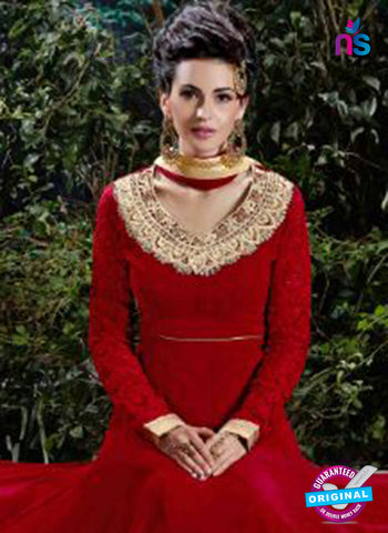 AZ 3609 Red Georgette Anarkali Suit - Anarkali Suits - NEW SHOP