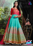 AZ 3610 Sky Blue Georgette Anarkali Suit