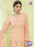 SC 13490 Peach Designer Traditional Exclusive Party Wear Un-stitched Straight Suit Online