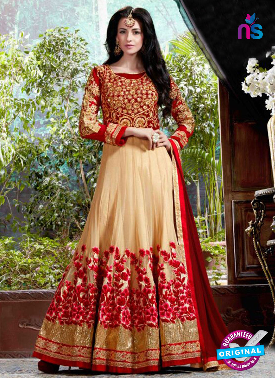 AZ 3611 Beige Georgette Anarkali Suit