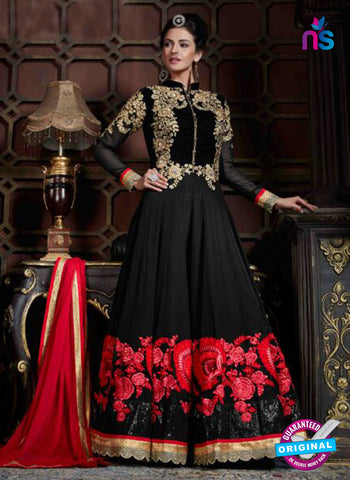 AZ 3612 Black Georgette Anarkali Suit