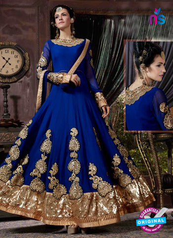 AZ 3613 Blue Georgette Anarkali Suit