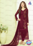 SC 13493 Maroon Designer Traditional Exclusive Party Wear Un-stitched Straight Suit