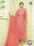SC 13494 Peach Designer Traditional Exclusive Party Wear Un-stitched Straight Suit