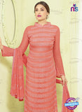 SC 13494 Peach Designer Traditional Exclusive Party Wear Un-stitched Straight Suit Online