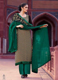 Omtex 222A Green Color Georgette Designer Suit