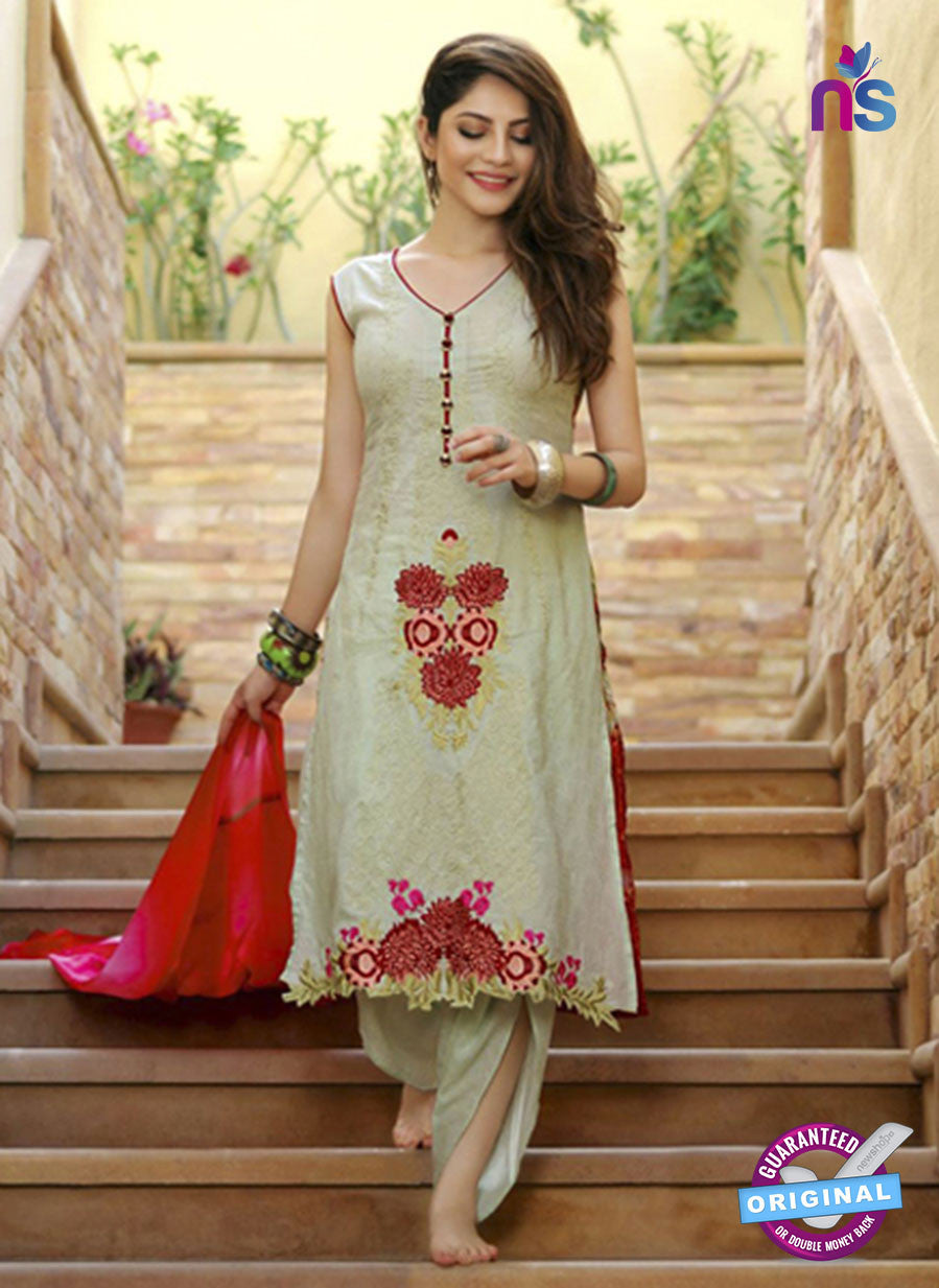 SC 13689 Beige Glace Soft Cotton Designer Fancy Exclusive Pakistani Salwar Suit