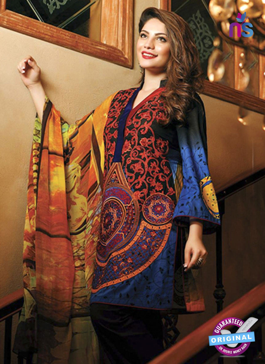 SC 13684 Blue Glace Soft Cotton Designer Fancy Exclusive Pakistani Salwar Suit