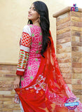 SC 13687 Red Glace Soft Cotton Designer Fancy Exclusive Pakistani Salwar Suit Online