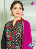 SC 13841 Black and Red Glace Cotton Designer Fancy Exclusive Straight Pakistani Suit Online