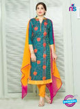 SC 13842 Sea Green and Yellow Designer Fancy Exclusive Straight Pakistani Suit
