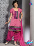 SC 13193 Pink and Magenta Party Wear Chanderi Patiala Suit