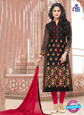 SC 13969 Black and Pink Fancy Party Wear Designer Straight Suit