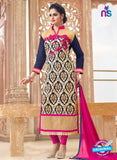 SC 13970 Blue and Pink Fancy Party Wear Designer Straight Suit