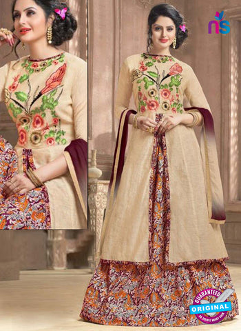 Shree Fabs 2325 Beige Indo Western Suit