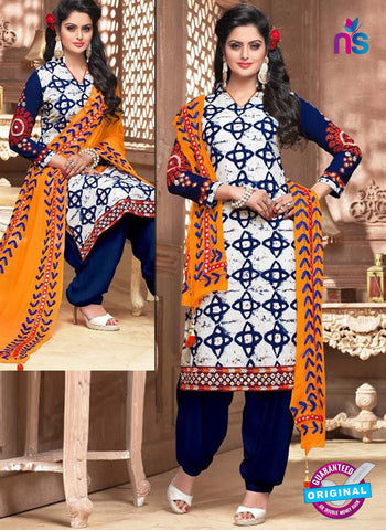 Shree Fabs 2326 White Formal Cotton Suit
