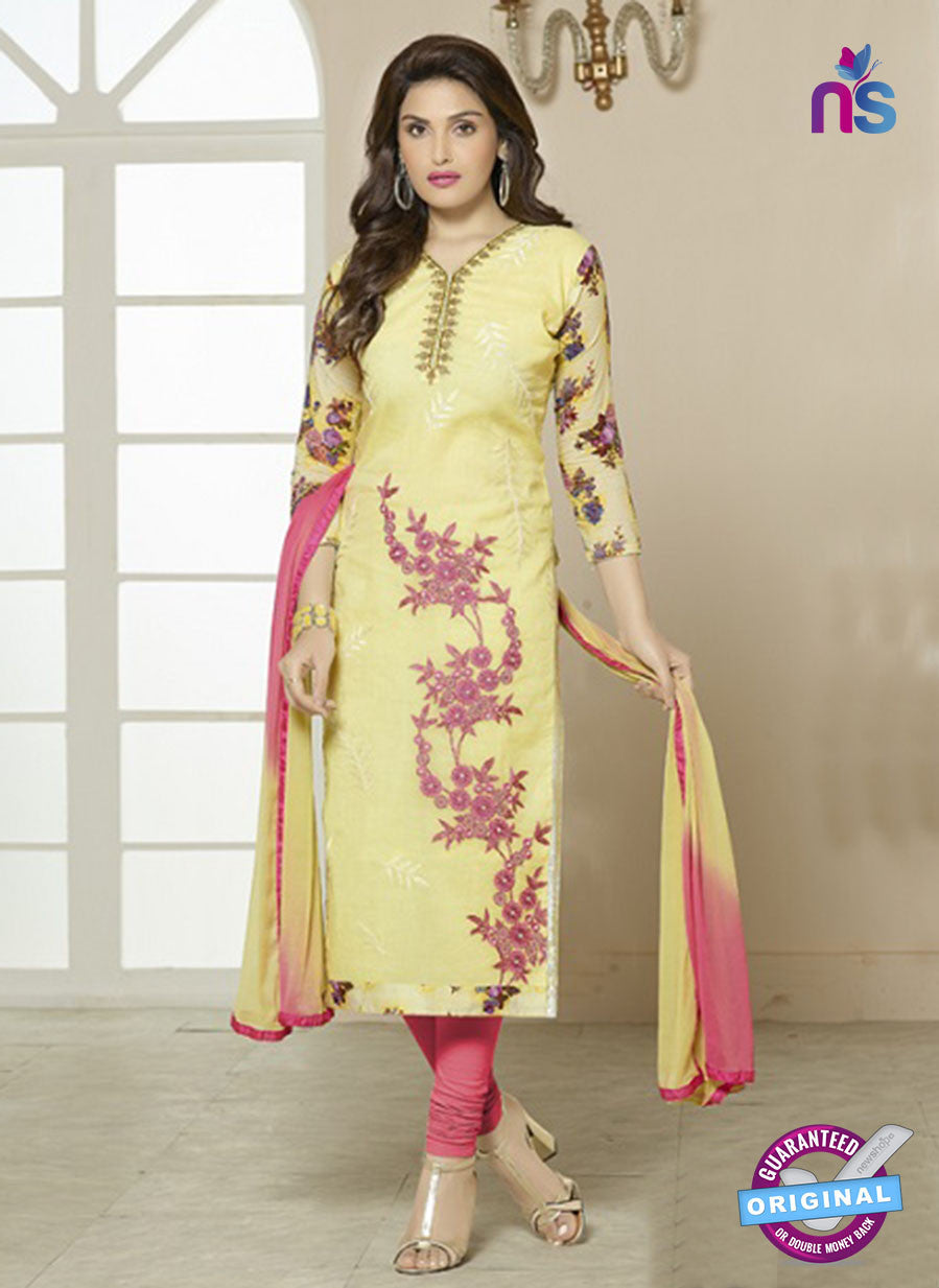 SC 14203 Yellow Cotton Pakistani Suit