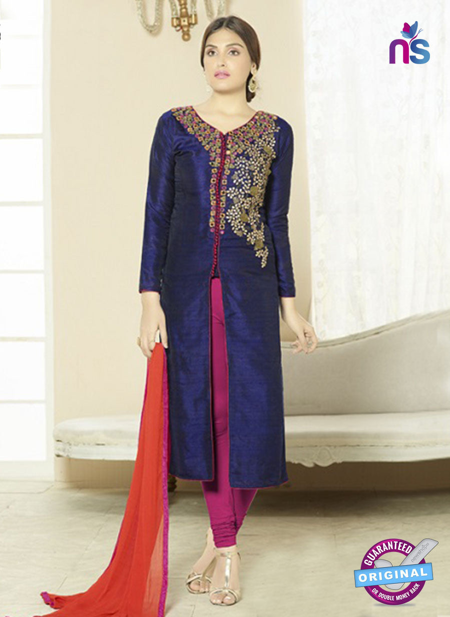 SC 14204 Blue Cotton Pakistani Suit