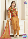 SC 14205 Golden Cotton Pakistani Suit