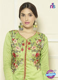 SC 14206 Green Cotton Pakistani Suit