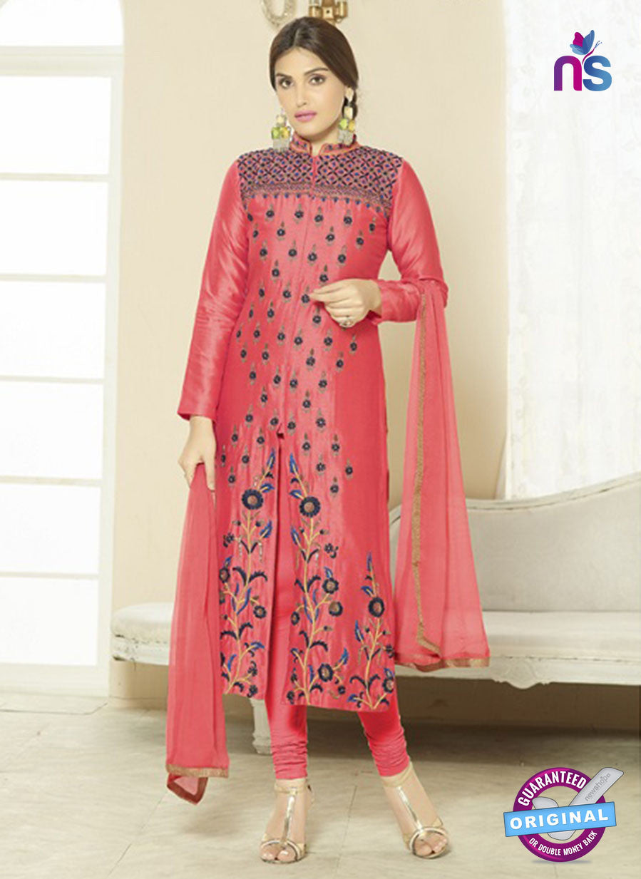 SC 14209 Peach Cotton Pakistani Suit