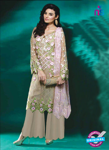Beige Faux Georgette Pakistani Suit